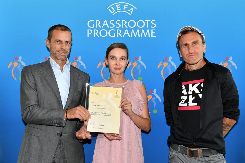 AKS Zły Going. partnerstwo UEFA Grassroots Awards